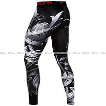 Компрессионные штаны Venum Samurai Skull Spats Black, фото 2