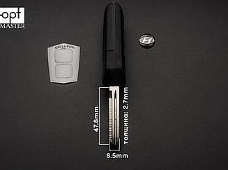 HYUNDAI SANTA FE выкидной ключ 2 кнопки (корпус), с креплением батарейки на корпусе,заготовка ключа
