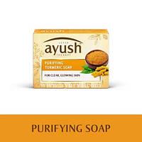 Очищающее мыло с куркумой / Purifying Turmeric Soap / Lever Ayush / Индия / 100 г