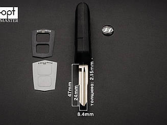 HYUNDAI SANTA FE выкидной ключ 2 кнопки (корпус)заготовка ключа