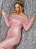 Нарядное облегаюшее платье с открытыми плечами, фото 8