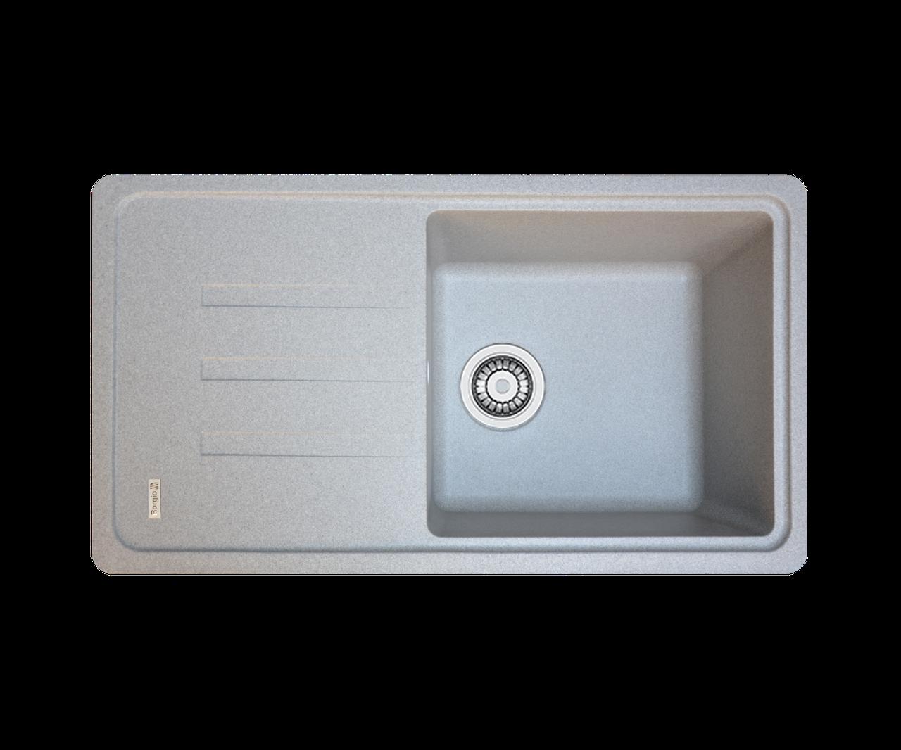 Кухонна мийка гранітна Borgio PRC-780х435 сірий камінь