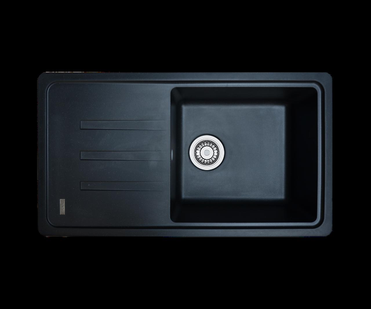 Кухонна мийка гранітна Borgio PRC-780х435 чорний