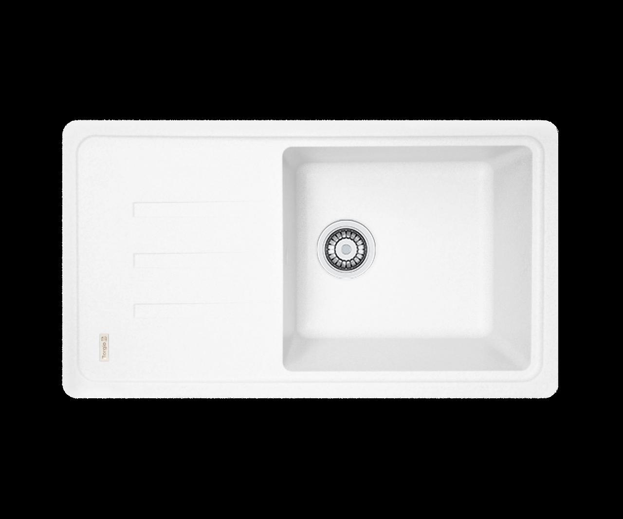 Кухонна мийка гранітна Borgio PRC-780х435 білий