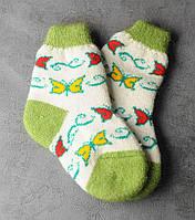Шерстяные носки детские, зимние детские носочки,  18-21 см, фото 1