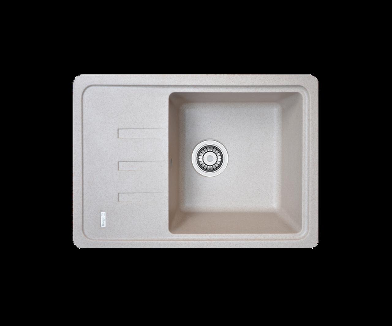 Кухонна мийка гранітна Borgio PRC-620х435 піщаний