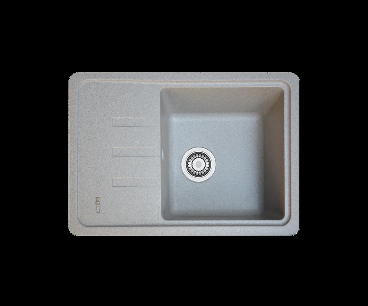Кухонна мийка гранітна Borgio PRC-620х435 сірий камінь