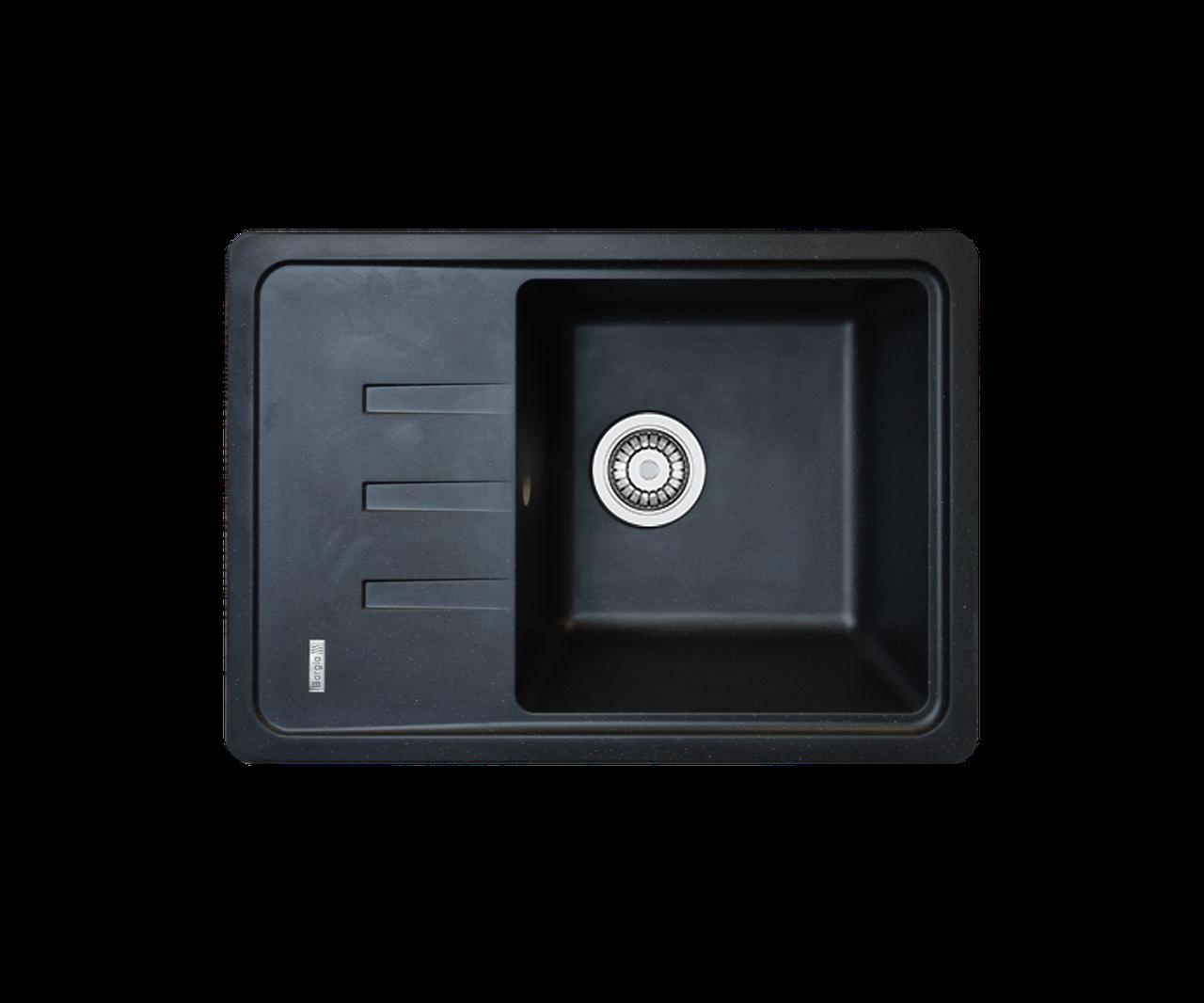 Кухонна мийка гранітна Borgio PRC-620х435 чорний