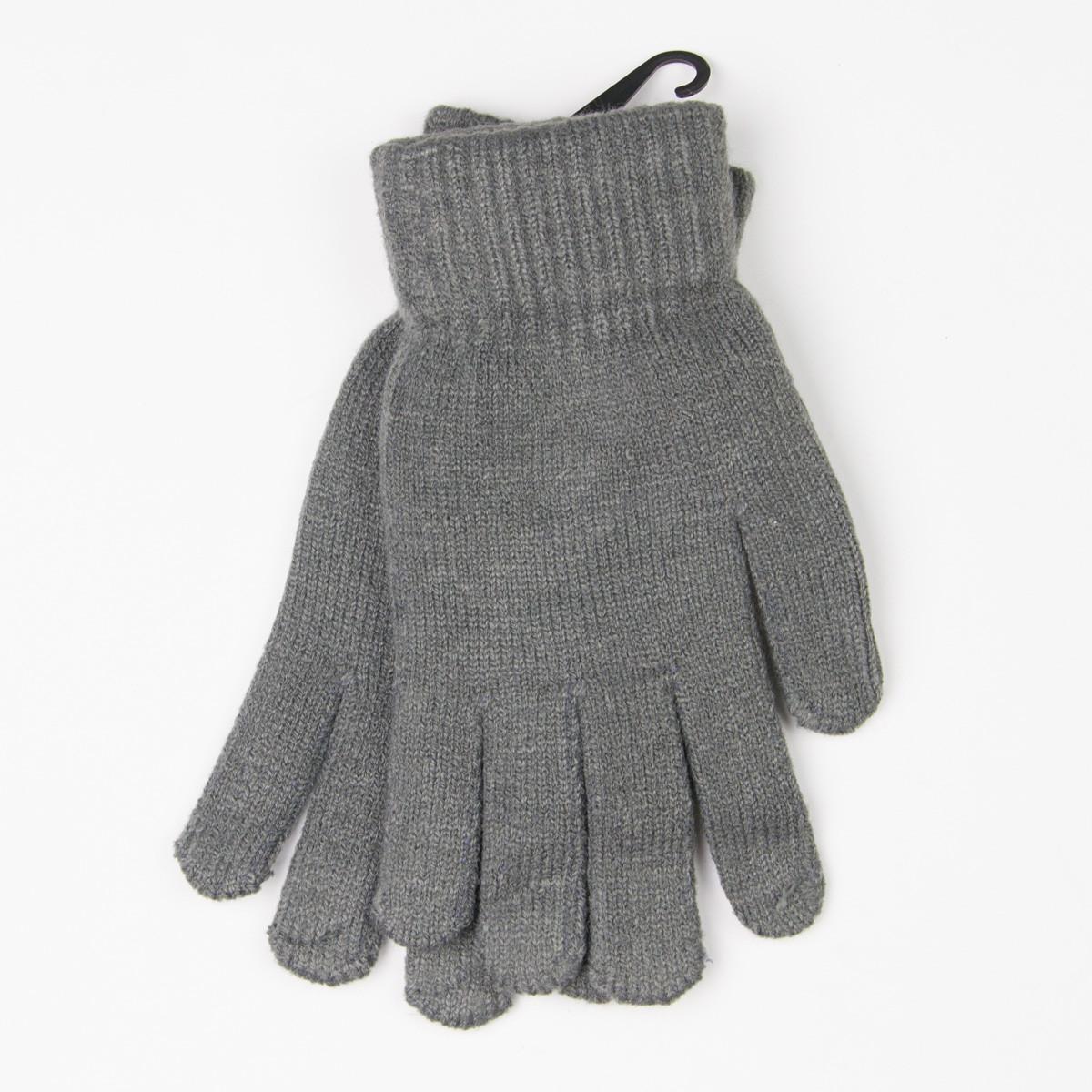 Мужские вязанные перчатки (арт. 19-5-12) серый