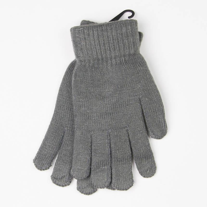 Мужские вязанные перчатки (арт. 19-5-12) серый, фото 2
