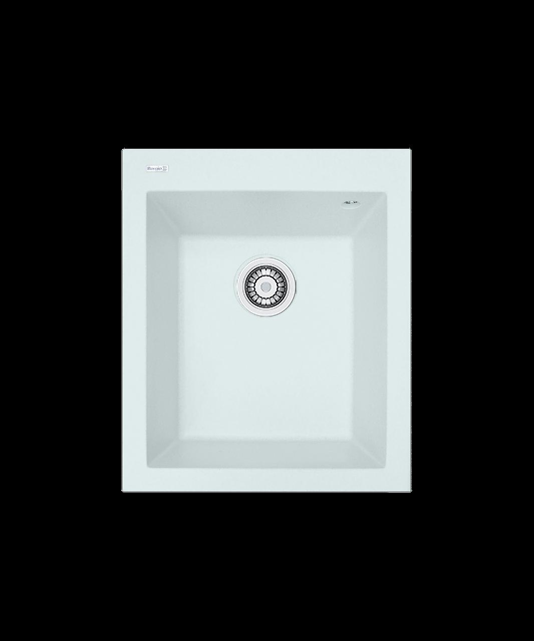 Кухонна мийка гранітна Borgio Q-410x500  білий