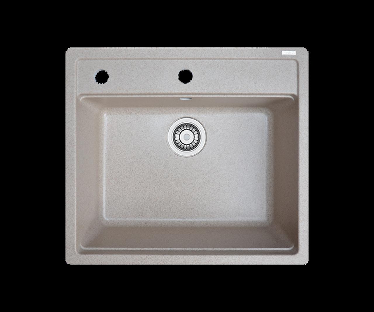 Кухонна мийка гранітна Borgio Q-570x510 піщаний