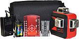 Лазерный уровень (нивелир) LSP LX-3D MAX LASER OSRAM PRO, 2 ГОДА гарантия! + штанга распорная со штативом 3,5м, фото 3