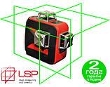Лазерный уровень (нивелир) LSP LX-3D green professional 2ГОДА гарантия! + штанга распорная со штативом 3,5м, фото 2