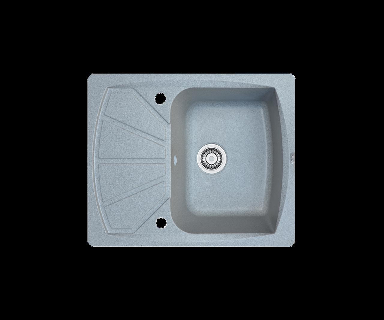 Кухонна мийка гранітна Borgio PRT-610x500 сірий камінь