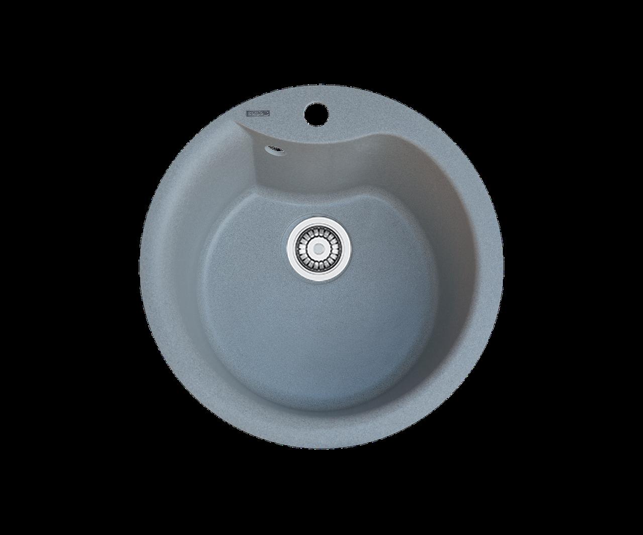 Кухонна мийка гранітна Borgio ROC-490 сірий металік