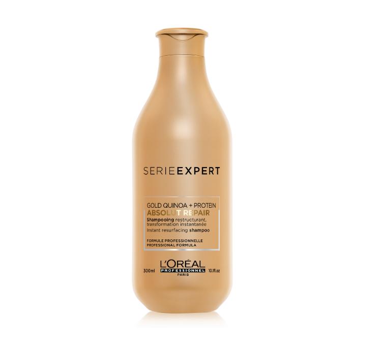 Восстанавливающий шампунь для поврежденных волос, L'Oreal Professionnel Absolut Repair Gold Quinoa + Pr 250 мл