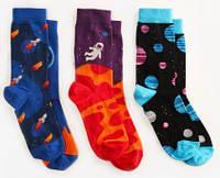 Детские носки 7-10 лет Dodo SocksSpace Oddity, набор 3 пары