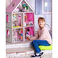 """Деревянный домик для барби с мебелью и текстилем """"Большой Особняк"""""""