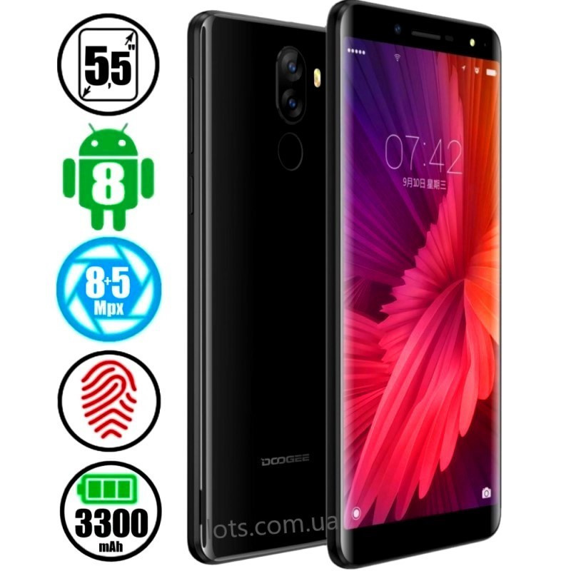 Смартфон Doogee X60 2/16Gb Matte Black  + Подарок Чехол