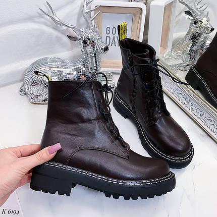 Коричневые осенние ботинки, фото 2