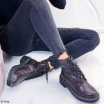 Коричневые осенние ботинки, фото 3