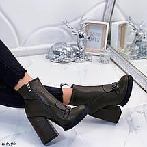 Зеленые ботинки женские, фото 3