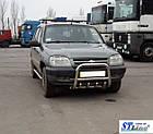 Кенгурятник Chevrolet Niva (02-09) защита переднего бампера кенгурятники на для Шевроле Нива Chevrolet Niva (02-09) d60х1,6мм, фото 2