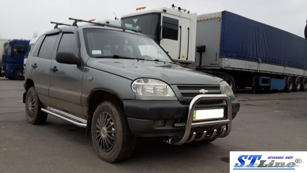 Кенгурятник Chevrolet Niva (02-09) защита переднего бампера кенгурятники на для Шевроле Нива Chevrolet Niva (02-09) d60х1,6мм