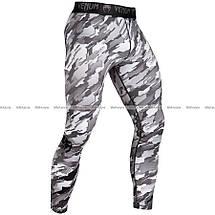 Компрессионные штаны Venum Tecmo Spats Grey, фото 2