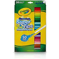 Фломастеры маркеры смывающиеся 50 цветов Crayola Super Tips