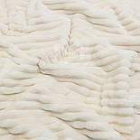 """Лоскут плюша в полоску """"Stripes"""" размером 45*160  см цвета слоновой кости с тёплым оттенком(есть загрязнение), фото 2"""