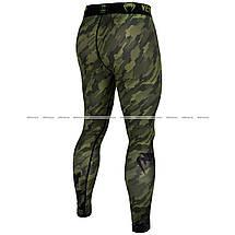Компрессионные штаны Venum Tecmo Spats Khaki, фото 3