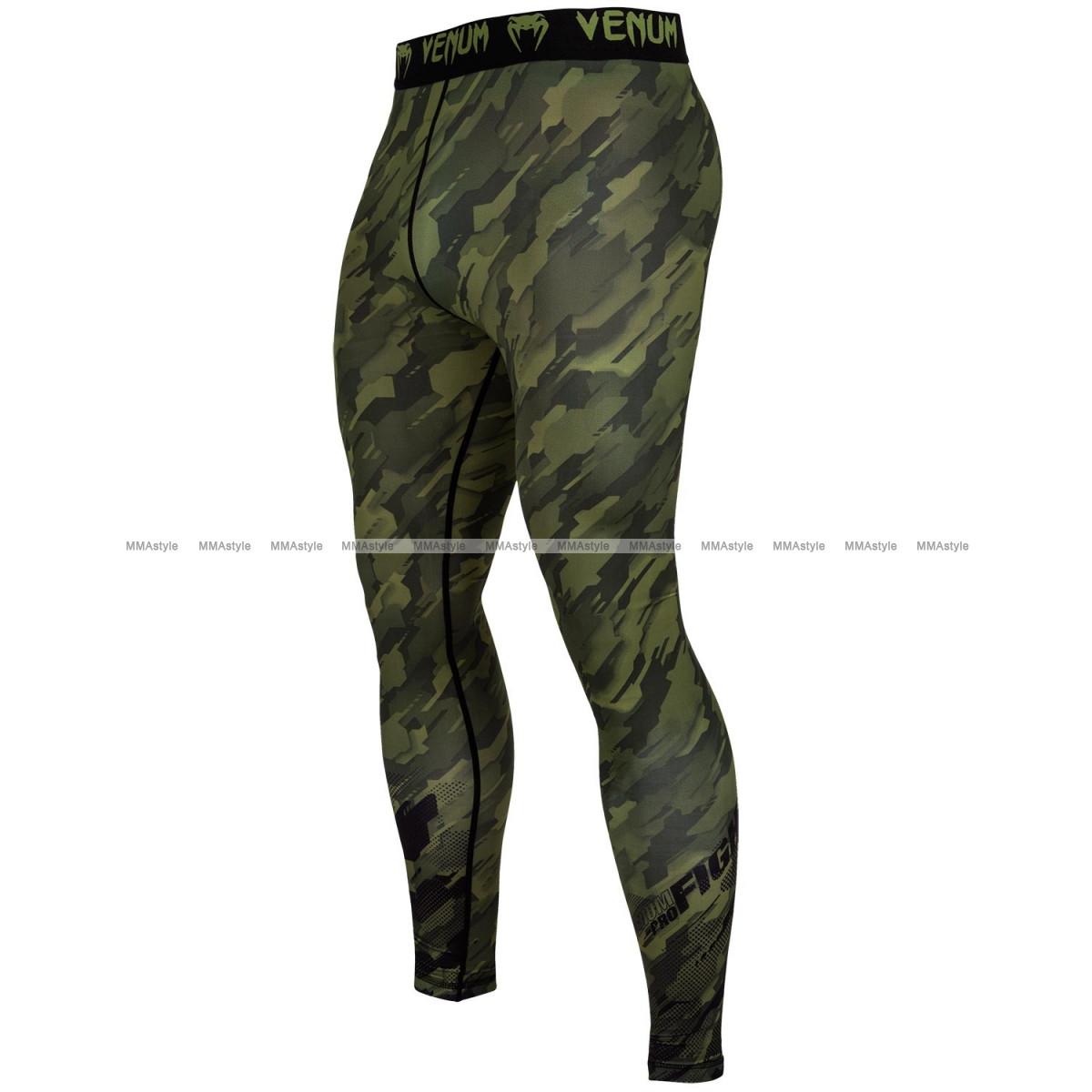 Компрессионные штаны Venum Tecmo Spats Khaki