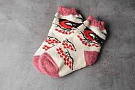 "Шерстяные носки детские, зимние детские носочки ""Снигери"", 16-19 см, фото 1"