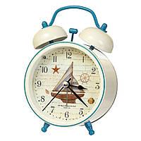 """Часы-будильник """"Морское приключение"""" (10*8*5 см) *рандомный выбор дизайна, 005AK"""