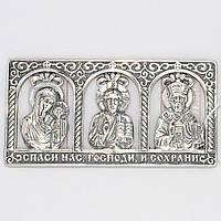 """Серебряная икона """"Молитва водителя"""" 8100103"""