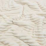 """Лоскут плюша в полоску """"Stripes""""  цвета слоновой кости с тёплым оттенком, размер 30*140 см, фото 2"""