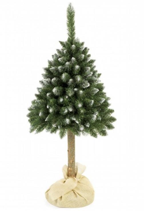 Елка искусственная заснеженная сосна 1.8 м на стволе новогодняя рождественская ель