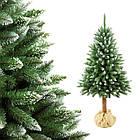 Елка искусственная заснеженная сосна 1.8 м на стволе новогодняя рождественская ель, фото 2