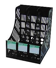 Лоток вертикальний 4Office, 4-402, 3 відділення, чорний