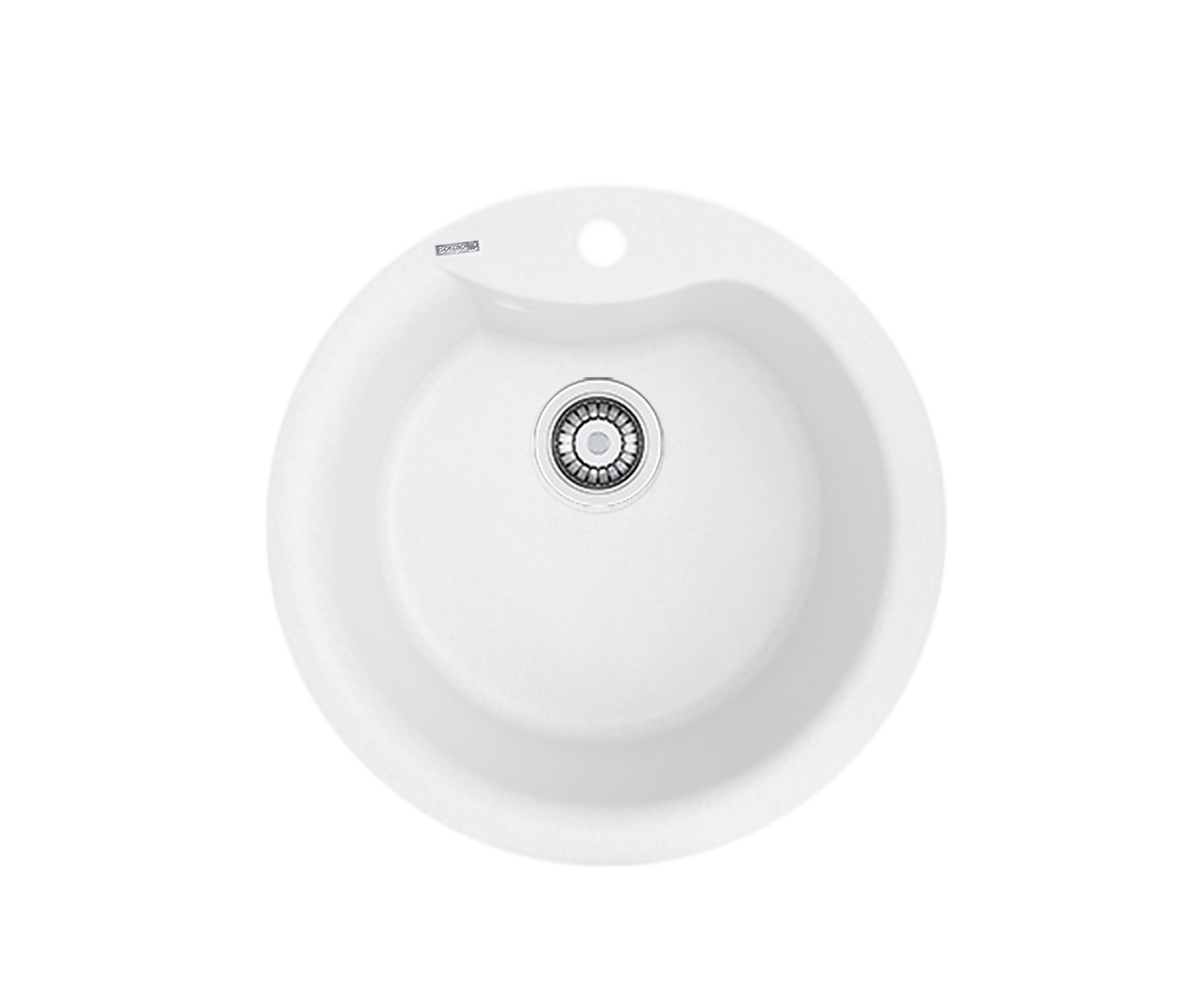 Кухонна мийка гранітна Borgio ROC-490 білий