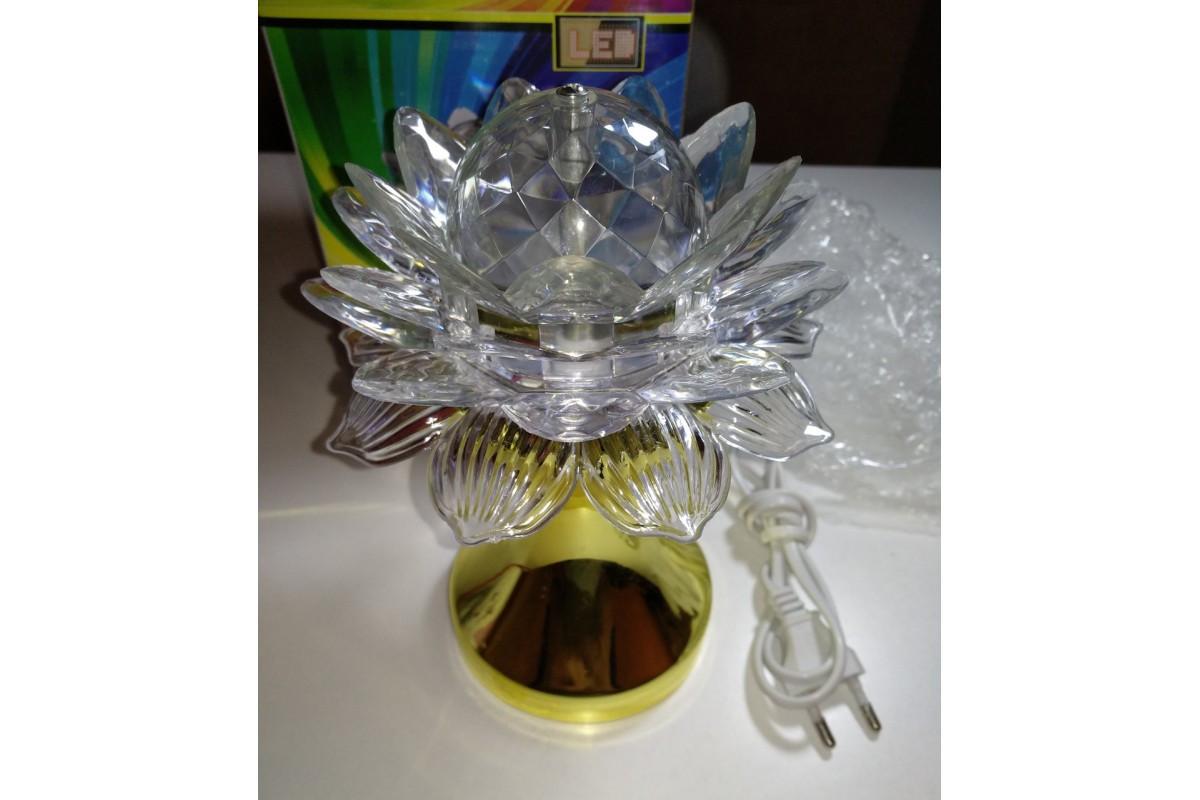 Обертова диско лампа квітка LED CB-0319 нічник світильник