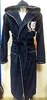 Халат банный с вышитым логотипом ФК Черноморец.