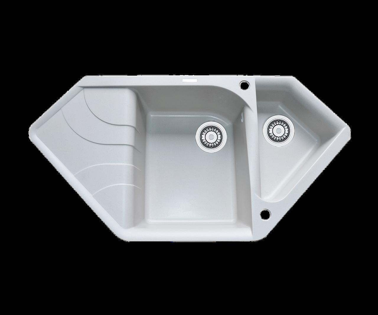 Кухонна мийка гранітна Borgio TRZ-1000x500  перлистий