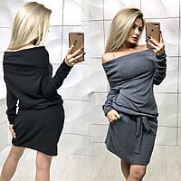 Платье короткое из ангоры /разные цвета, 42-46, ft-384/
