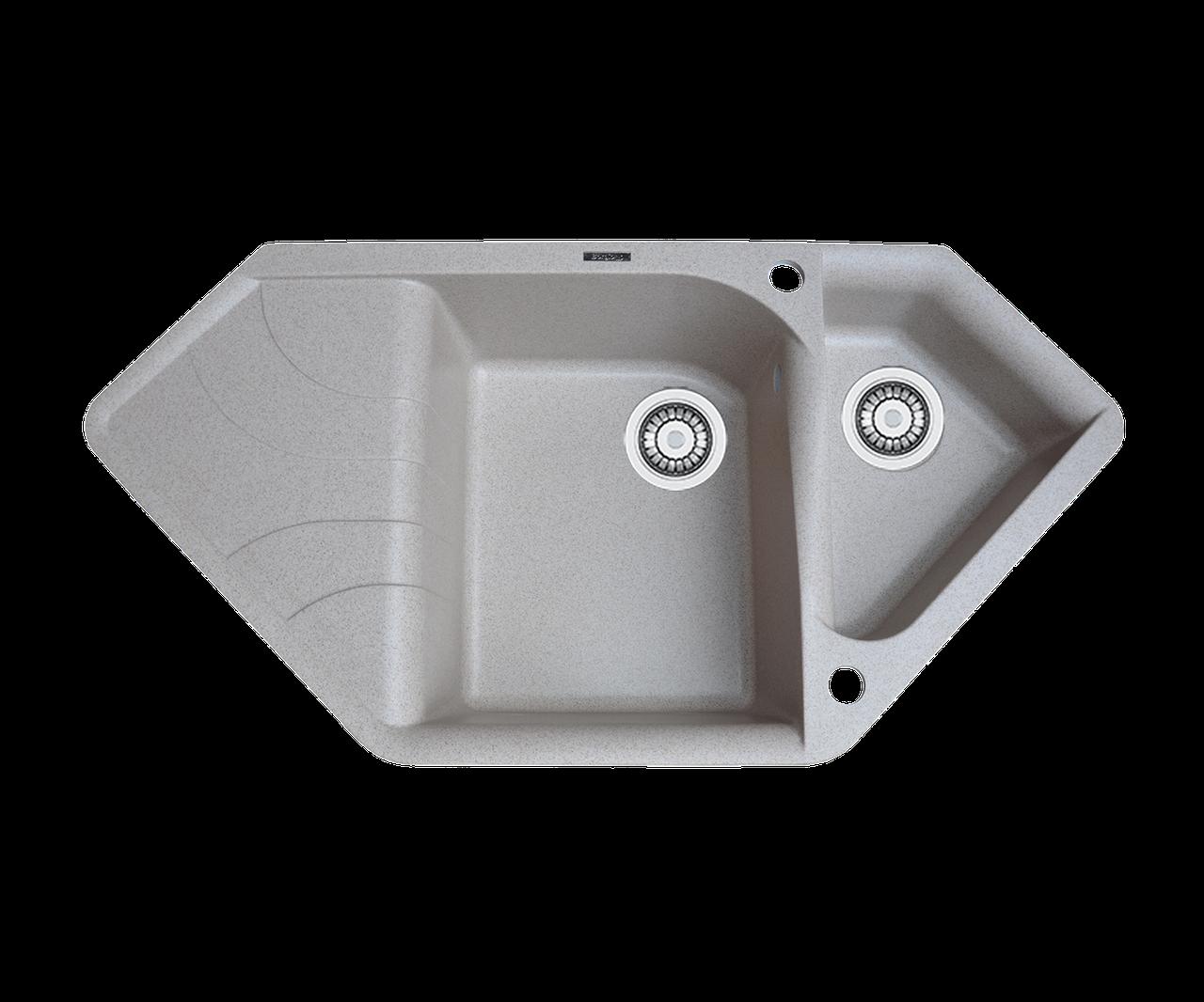 Кухонна мийка гранітна Borgio TRZ-1000x500 мигдаль
