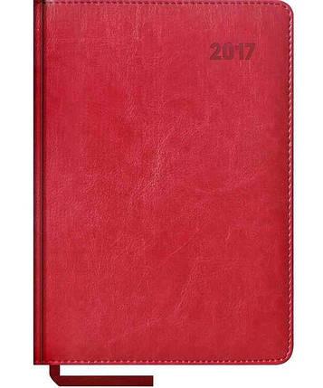 Щоденник Sarif 176 аркушів, бордо+золото 3В-431, фото 2