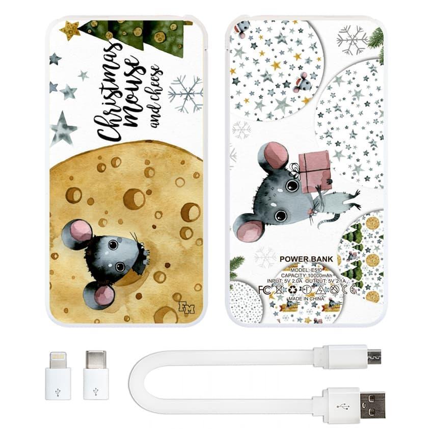 Портативная мобильная батарея Новогодний сыр, 10000 мАч (E510-45)