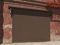 Стальные рулонные ворота DoorHan с вальным приводом из комбинированного профиля RHS117, RHS117P, фото 1